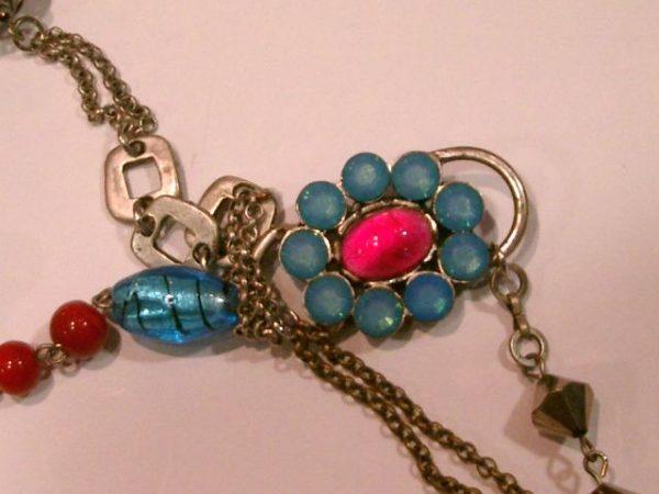 2708SH8 Halskette blau-rot
