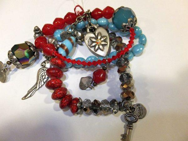 2719SA8 Armband rot-blau