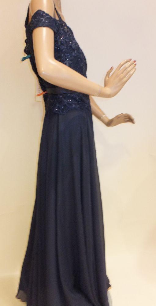 7667SK9 Abendkleid blau Gr 38