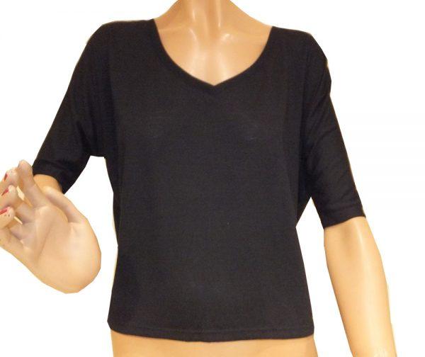 7645ST8schwarz Shirt Gr 40
