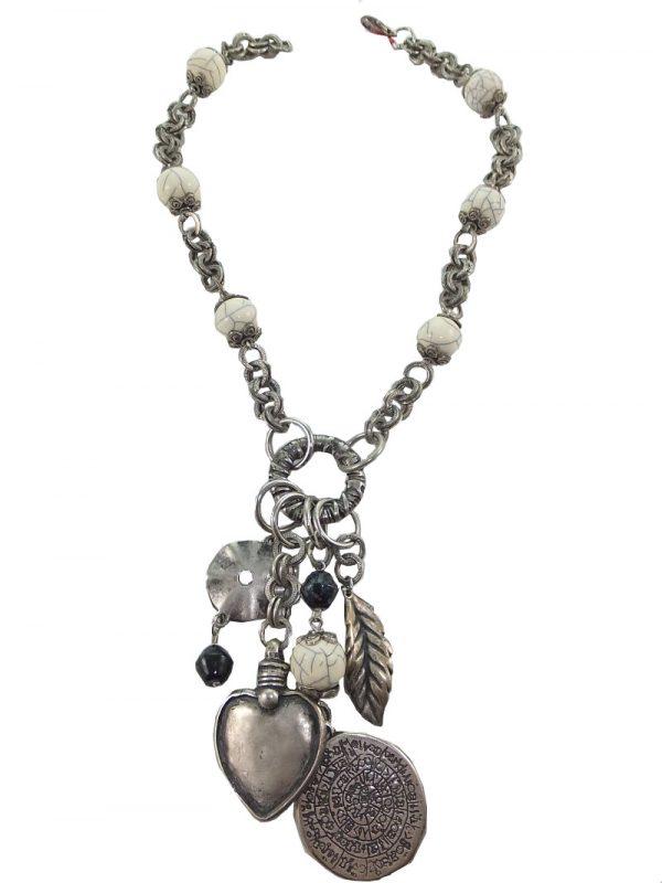 2489FH7 Halskette creme-silber