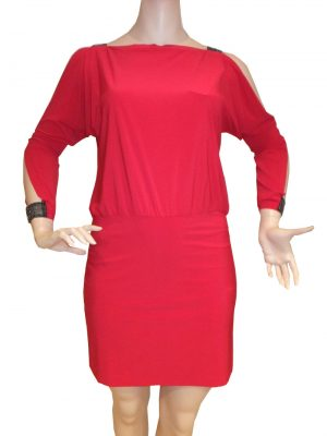 7708SK9 Kleid rot Gr 44-46