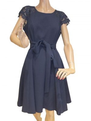 7710SK9 Kleid blau Gr 34 u 36