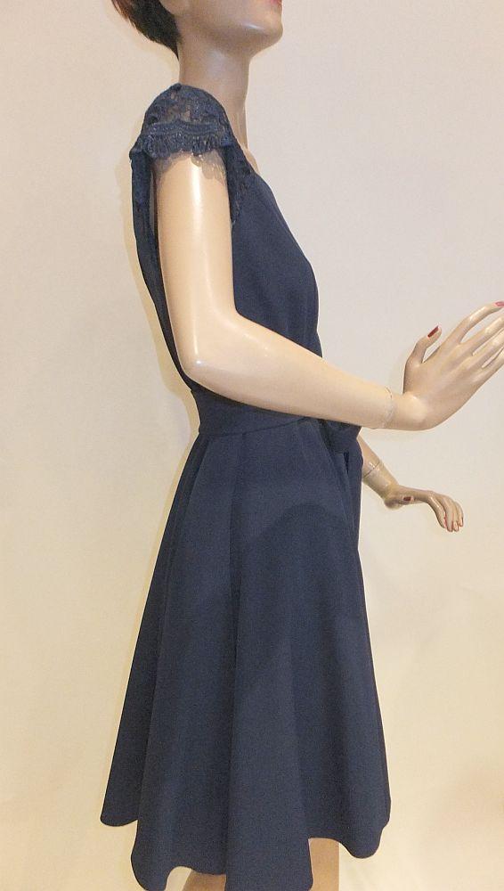 7710SK9 Kleid blau Gr 34