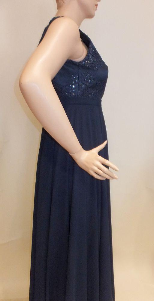 7721SK9 Abendkleid blau Gr 42