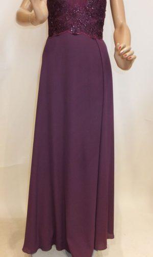 7716sk9 abendkleid violett gr 42  engels mode  schmuck