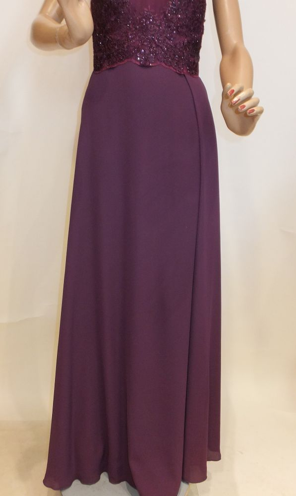 7716sk9 Abendkleid violett Gr 42