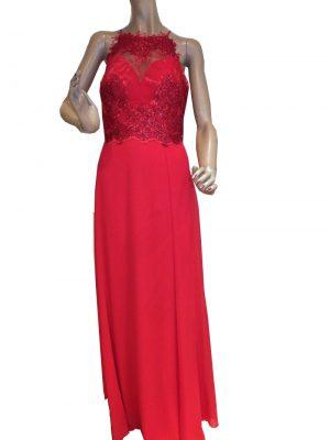 7717SK9 Abenddkleid rot Gr 38