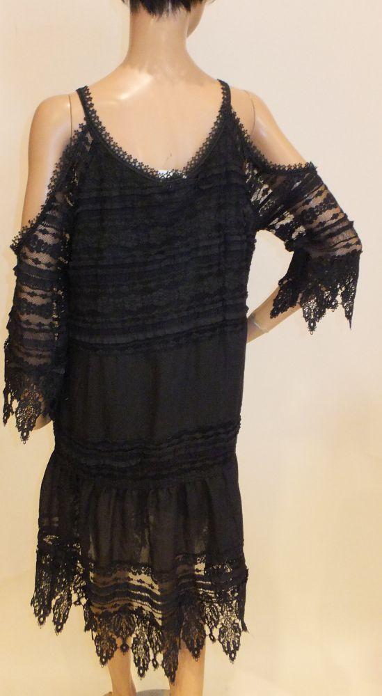 7760MK9 Kleid schwarz Gr 40