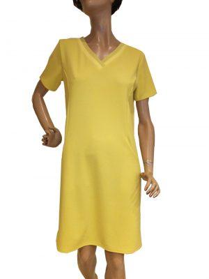 7761WK9 Kleid gelb Gr 38
