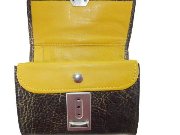 7799DG9D déqua G11 Geldbeutel Unikat schwarz-gelb