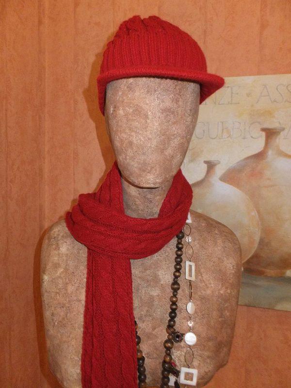 3784PK0 Set Mütze Schal rot