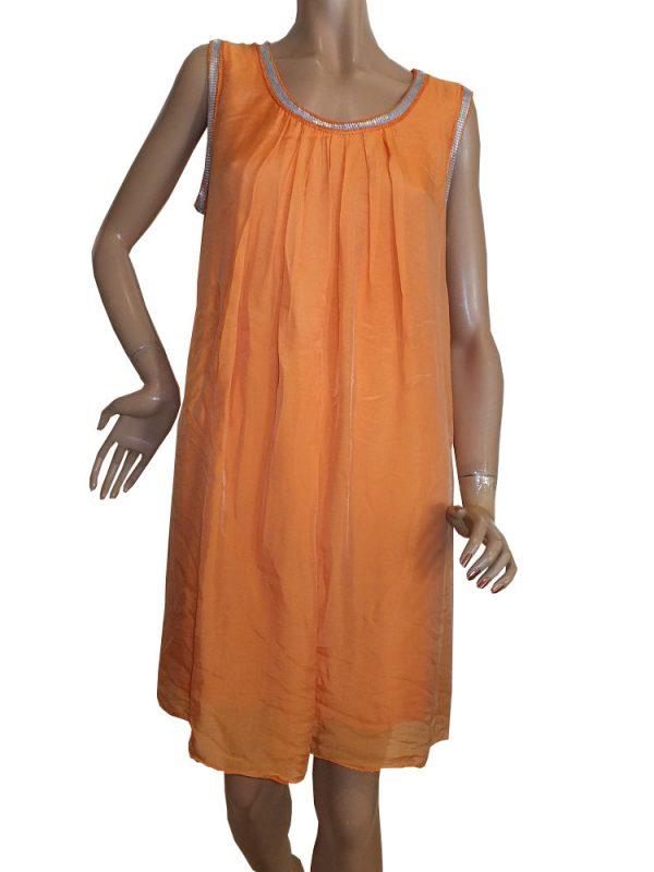 7926MK9 orange Kleid Gr 36 - 40