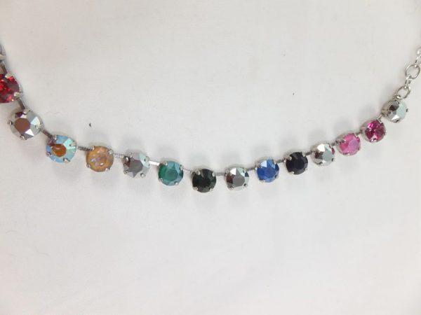 7962PH9 Halskette dunkel-bunt