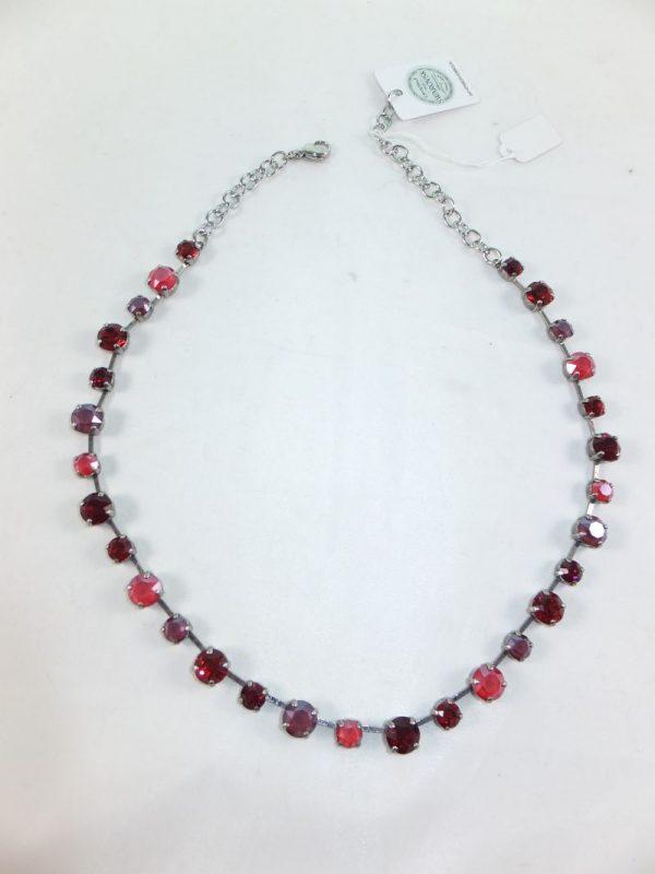 7955PH9 Halskette koralle-rot