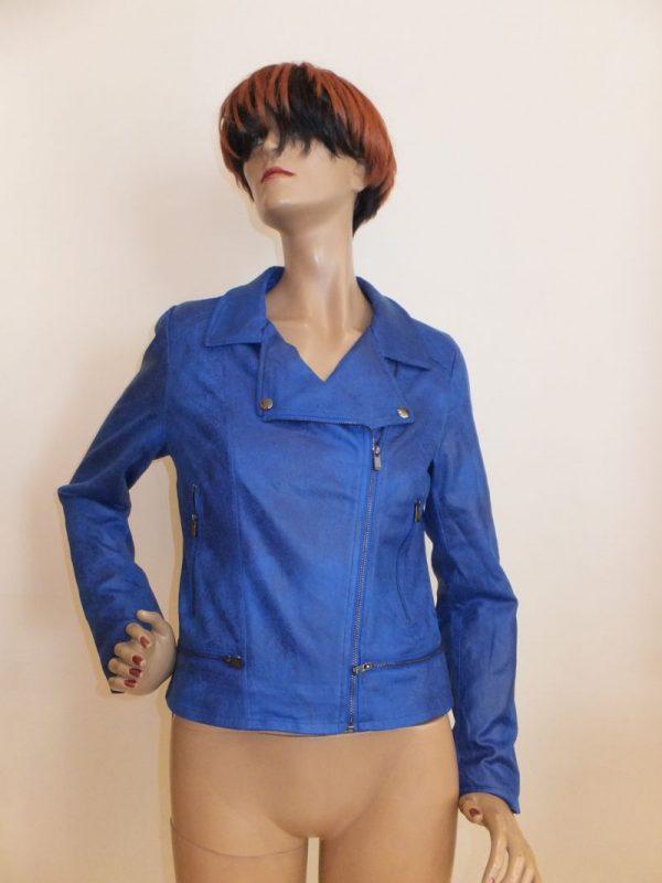 7964MJ9 Biker-Jacke blau Gr 38