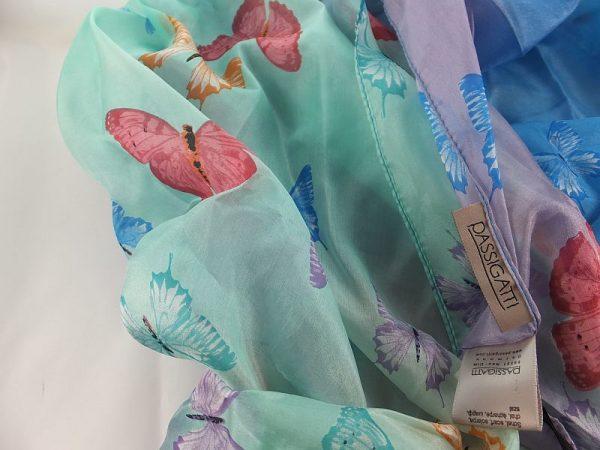 5673PS43 Tuch Schmetterling Seide