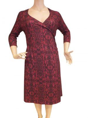 7992LK9 Kleid Lalamour bordeaux Gr 44