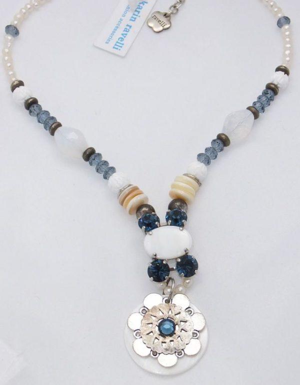 3586RH0bl Halskette Ravelli blau-weiß