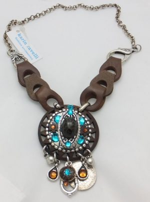3905RH0 Halskette Ravelli türkis-braun