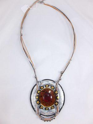 3850RH1 Halskette Murano braun