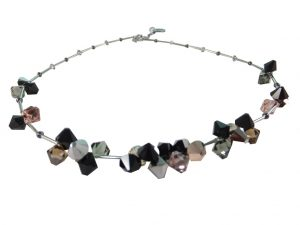 8109PH9 Halskette Swarovski Elements braun-schwarz
