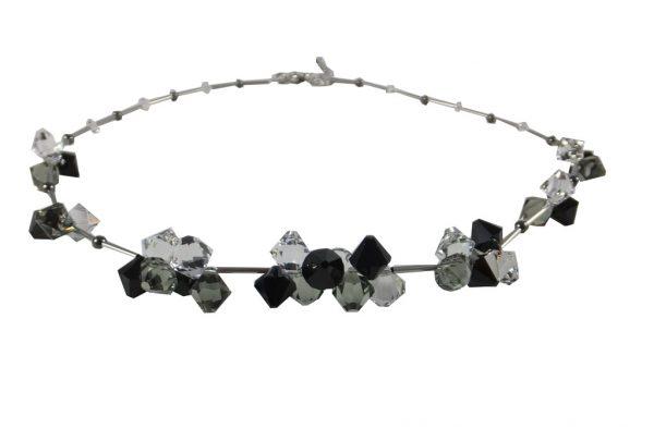 8161PH0 Halskette schwarz-weiß mit Swarovski-Elements