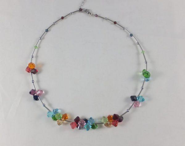 8164PH0 Halskette bunt mit Swarovski-Elements