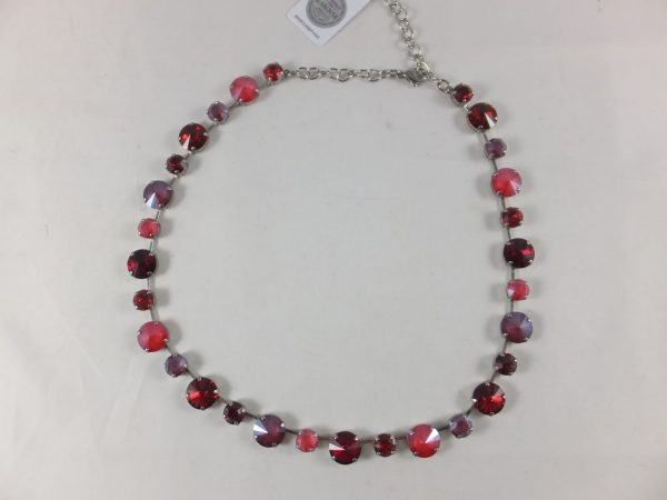 8165PH0 Halskette mit Swarovski-Elements rot