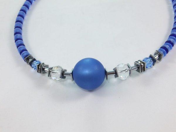 7182KH7B Halskette Kugel blau