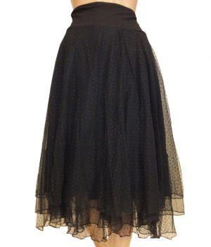 8213LR0 schwarz Petticoatrock lang Lalamour Gr 44