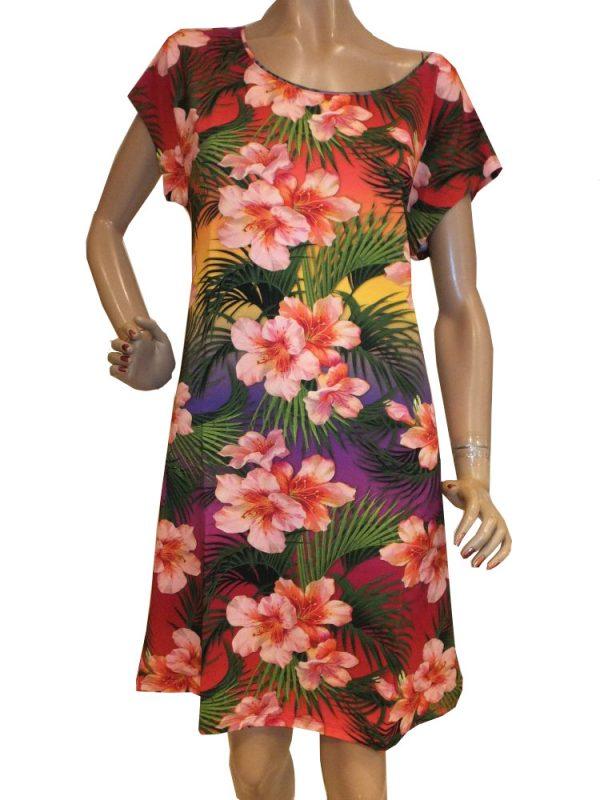 8193LK0 violett Kleid Lalamour Gr 36-38 und 42-44
