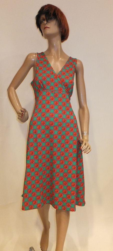 8201LK0 grün-pink Kleid Lalamour Gr 42