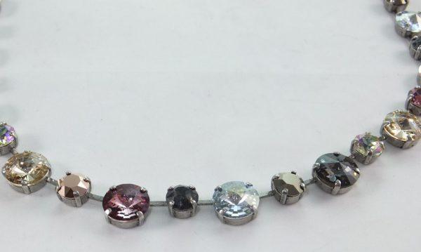 7193PH7B Halskette kupfer-beige mit SWAROVSKI Elements