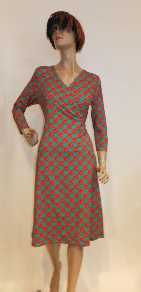 8200LK0 grün-pink Kleid Lalamour Gr 36 u 40