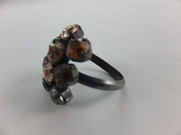 2361PR7Ebraun-schwarz Ring mit SWAROVSKI Elements