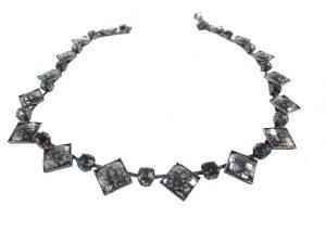6356EH5g Halskette blau-grau-schwarz