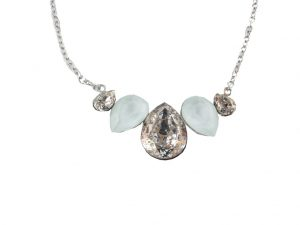 6717EH6hell  Halskette mit hochwertigen Glaskristallen