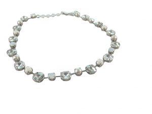 7238PH8D Halskette mit SWAROVSKI Elements hell-weiß