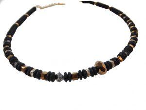 7241KH8 Halskette schwarz-kupfer