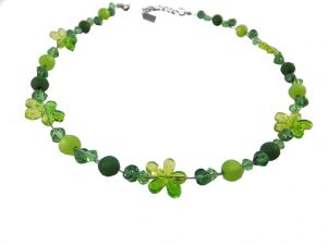 7254KH8B Halskette Blümchen grün