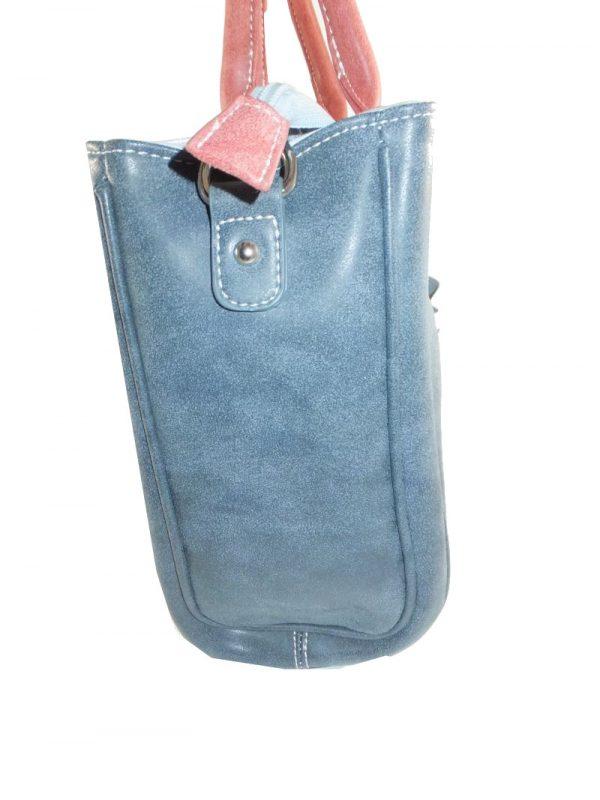 7258HT8B HI-DI-HI Tasche blau-grau-rose