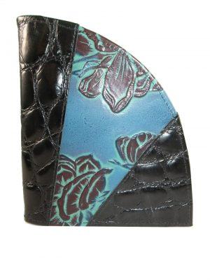 8373DG0A déqua Unikat Geldbörse blau-schwarz