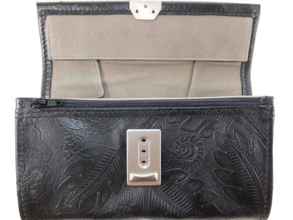 8427DG0 große déqua G9 Unikat Geldbörse schwarz