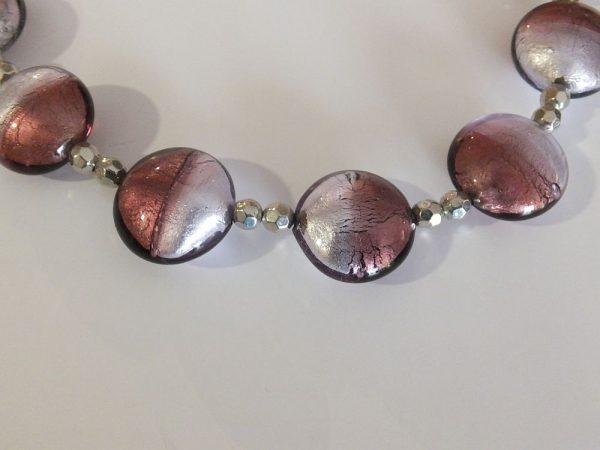 4173BH1 Halskette violett