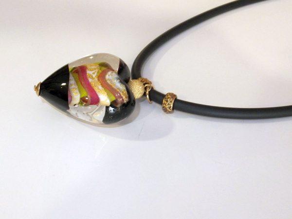 4165BH1b Halskette Glasherz