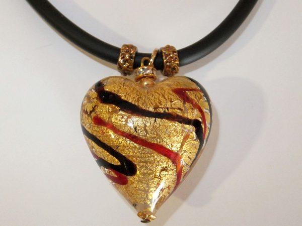 4165BH1g Halskette Glasherz