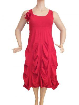 7430MK8 Kleid rot Gr40,42,46 u 48