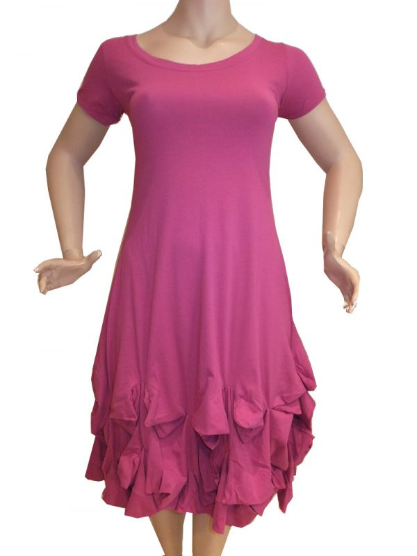 7486MK8 pink Kleid Gr 42