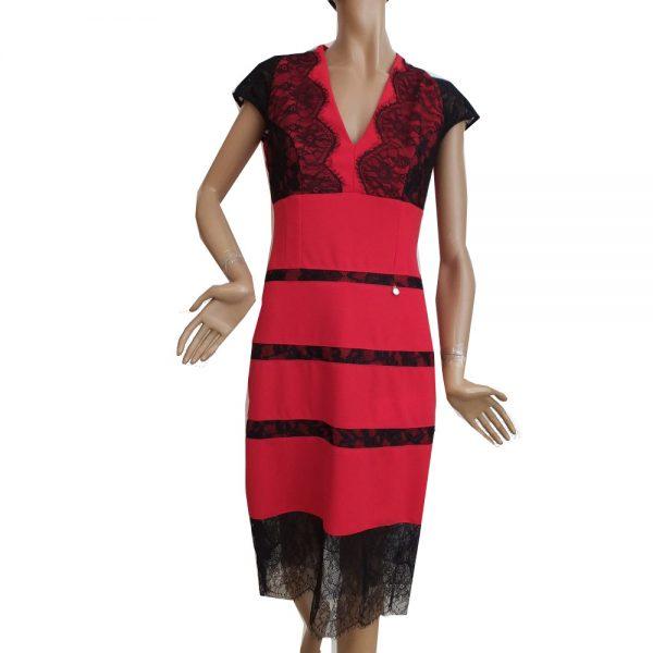 8029BK9 Rinascimento Kleid rot Gr 38